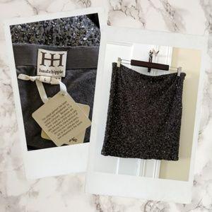 Haute Hippie ▪ Charcoal Beaded & Sequined Skirt